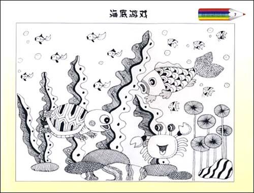 ... 线描画秋天景色儿童图画秋天的景色儿童线描画范画