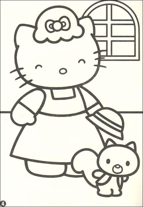 凯蒂猫的欢乐聚会_乐乐简笔画