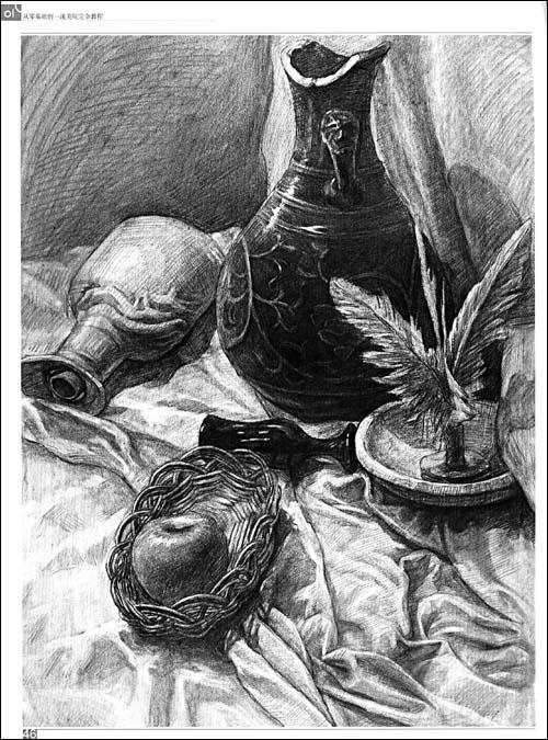 马赛石膏像素描图片展示