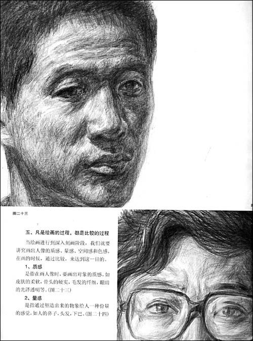 肖像素描技法要点; 一,什么是结构素描; 人物肖像素描技法报价