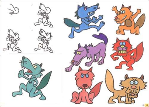 彩色小动物简笔画大灰狼; 斑马简笔画图片,斑马卡通头像简笔画图片