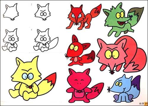 彩色版简笔画标准图谱:动物