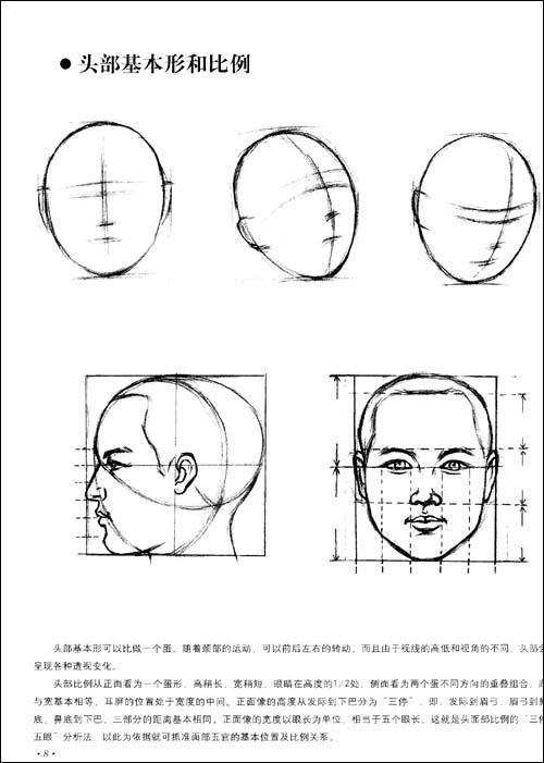 头像素描老年结构
