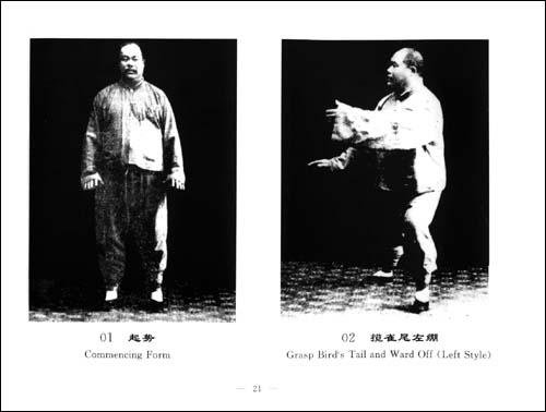 杨澄甫拳照:1931年拳架及其使用法