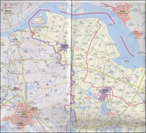 苏州旅游地图(英文版)/zhang