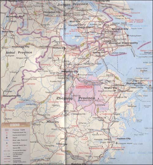 《绍兴旅游地图(英文版)》
