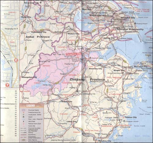 《杭州旅游地图(英文版)》