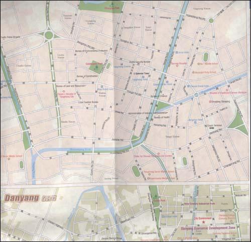 镇江旅游地图(英文版)
