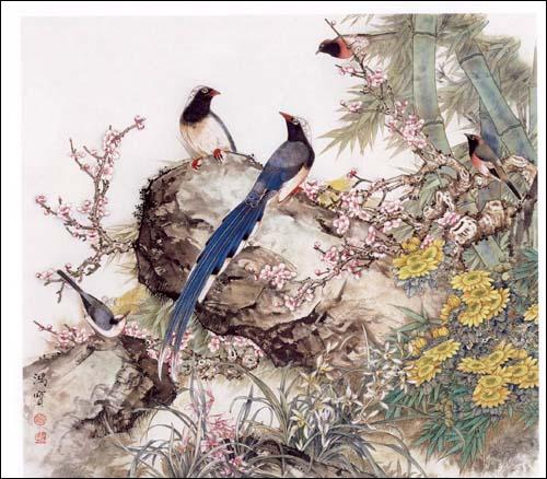 《工笔梅兰竹菊画法》