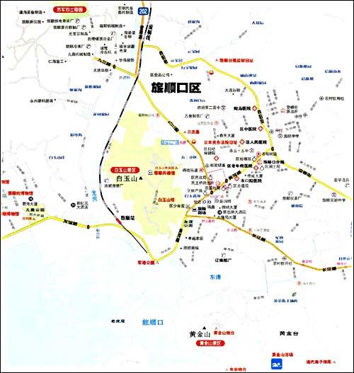 大连星海广场旅游地图