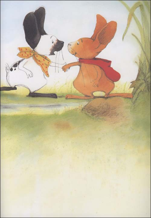小兔和妈妈一起做贴画