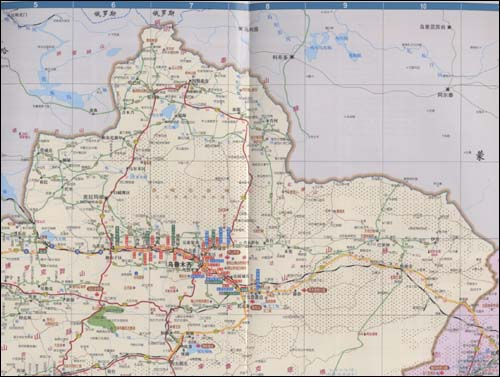 《2010新疆,西藏,青海,甘肃,宁夏,内蒙古西部公路交通