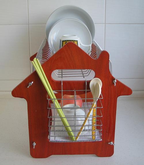 筷子废物利用手工制作房子