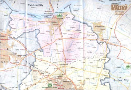 中华地图学社 正版无锡旅游地图英文版