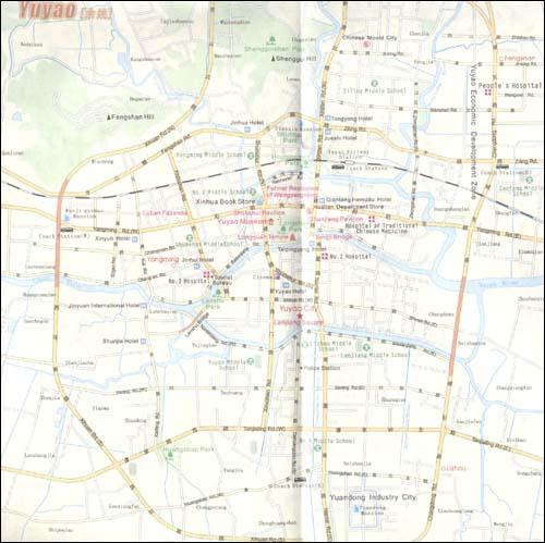 《宁波旅游地图(英文版)》