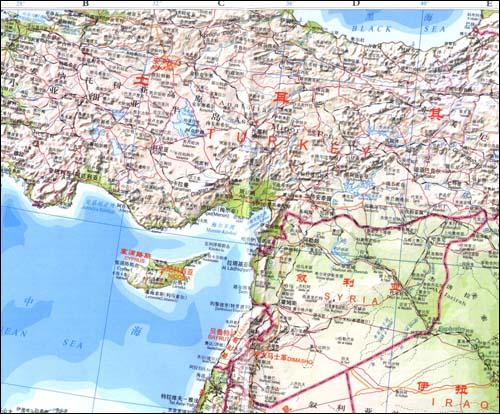 中东地图_金山生活网图片