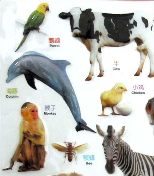宝宝早教水晶启智挂图:动物世界