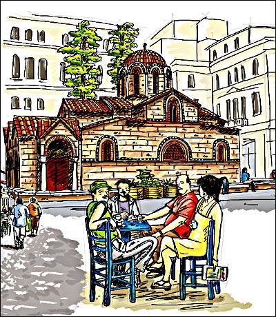 希腊手绘旅行