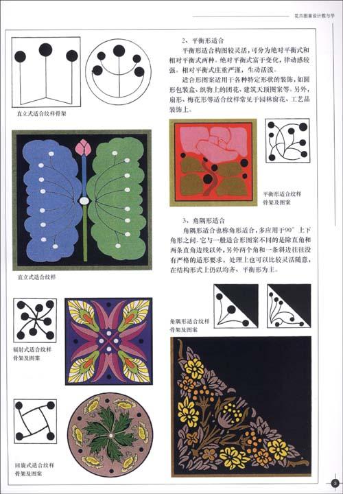 五,四方连续纹样设计/4 六,花卉写生与变化图例/5 七,花卉图案参考