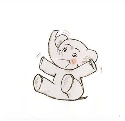可爱的小象简笔绘画