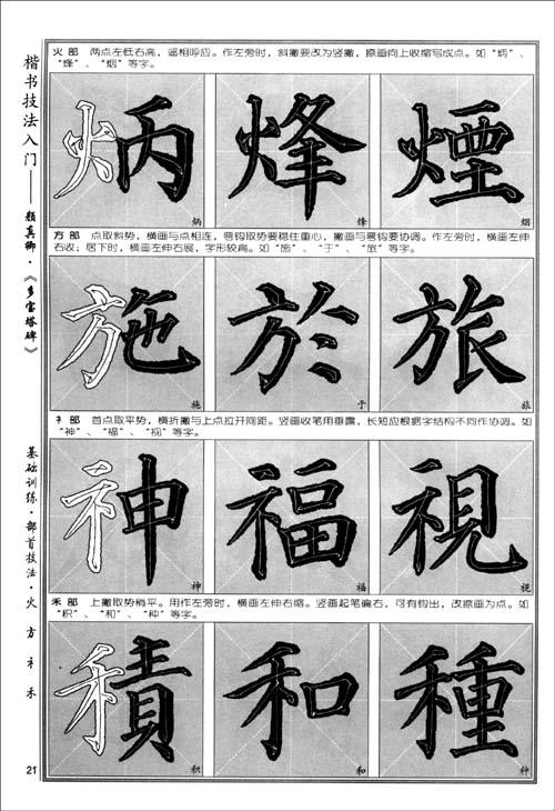 《多宝塔碑》的字笔法显露