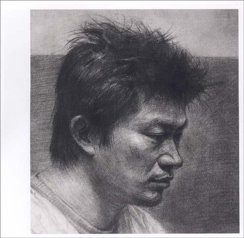 考研人物头像素描