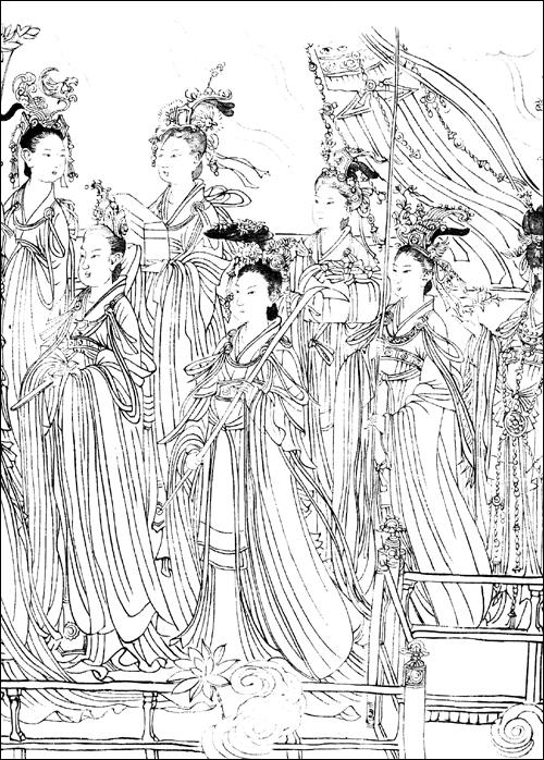 中国传统人物画线描选