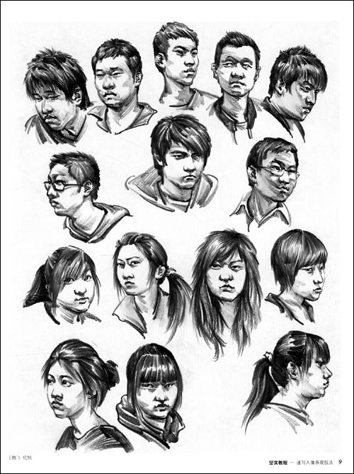 人物线描速写入门图片,线描人物速写作品欣赏,叶军线描人物速写