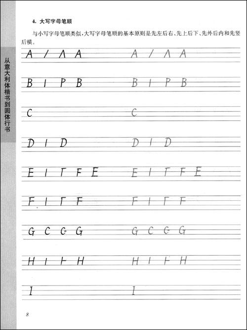 写一手漂亮的英文.英文字帖:从意大利体楷书到圆体