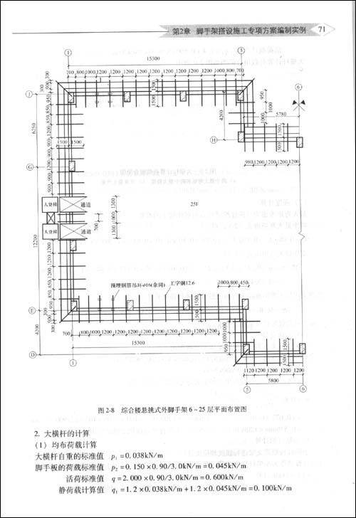模板配模施工图纸