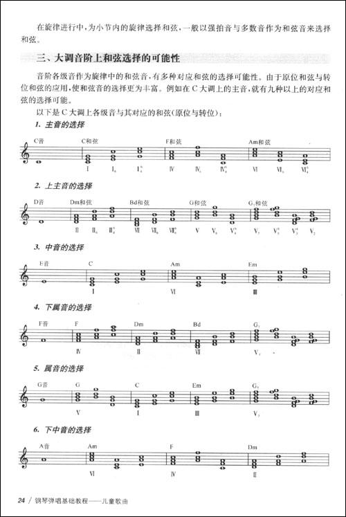 儿歌谱子简谱 四节