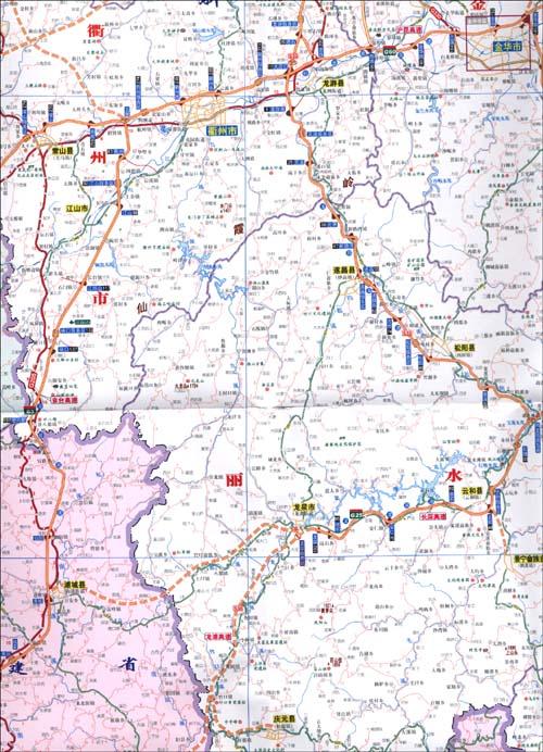 《上海,浙江交通旅游图》 山东省地图出版社【摘要