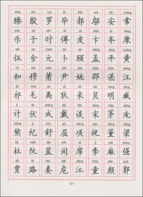 编辑推荐   《百家姓钢笔楷书字帖》:名家书法教程.图片