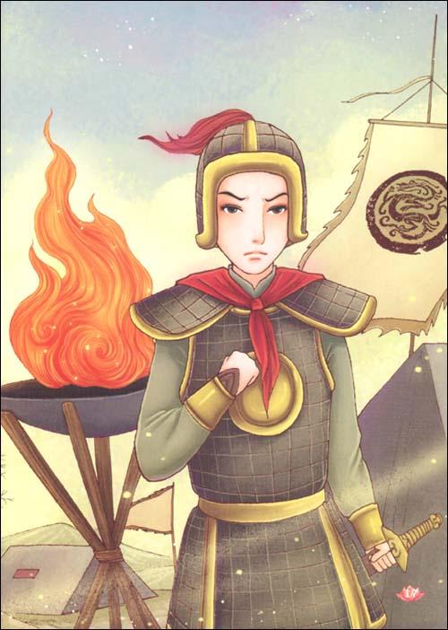 《萤火虫世界经典童话双语绘本:花木兰(汉英对照)》