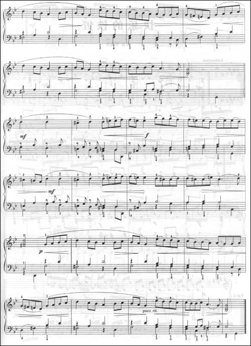 月光传说手风琴曲谱