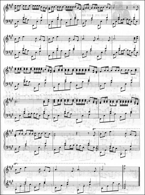 月光1钢琴曲谱子
