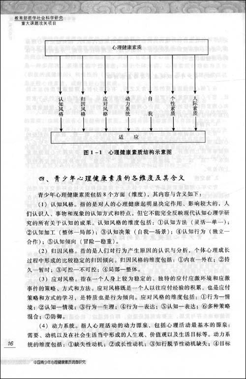 中国青少年心理健康素质调查研究