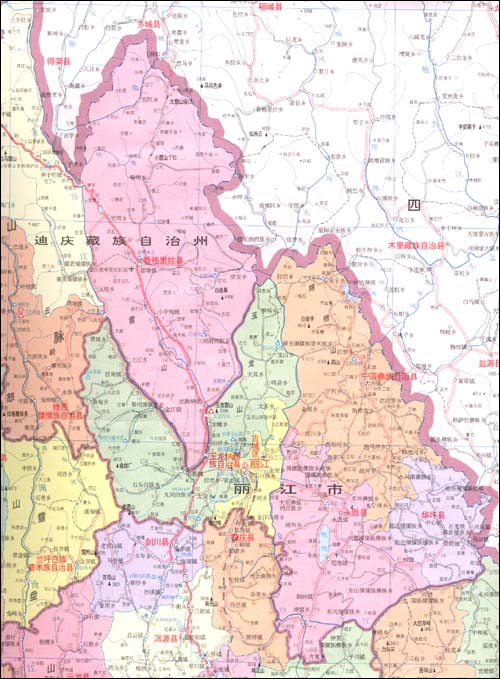 云南省地图(1:125万)