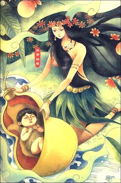 孩子最爱读的中国神话故事美绘本语文新课标
