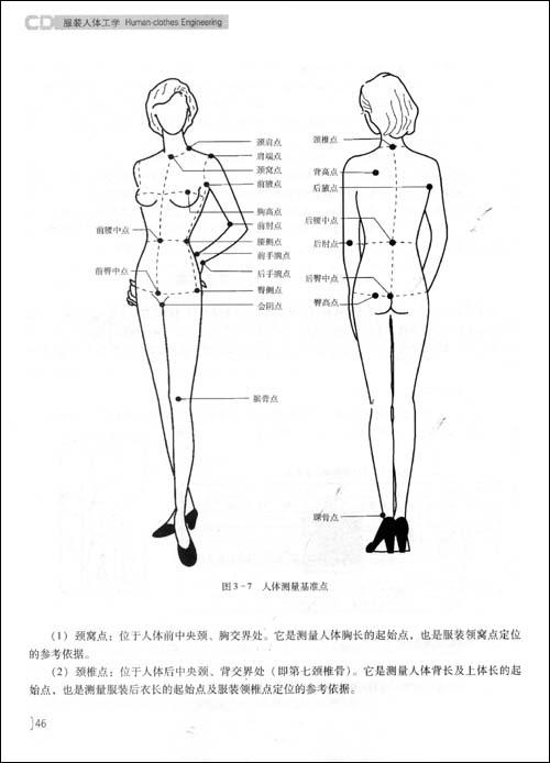 服装是否合乎人体形态与体型,直接影响人的舒适性,运动范围,温度及