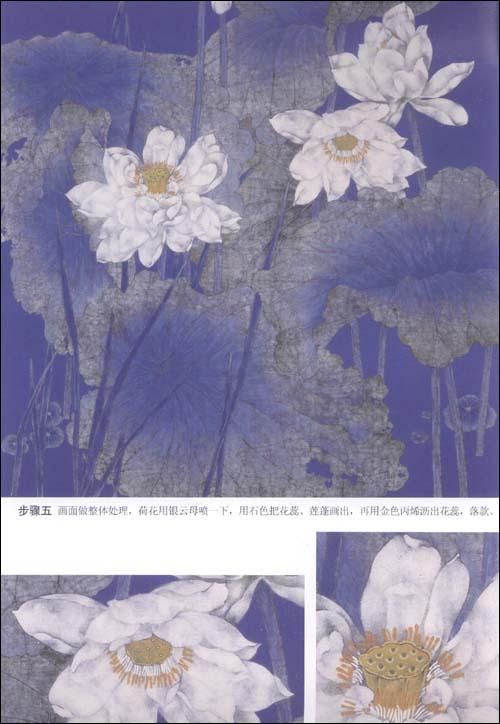 中国画技法61工笔重彩花卉画法:亚马逊:图书