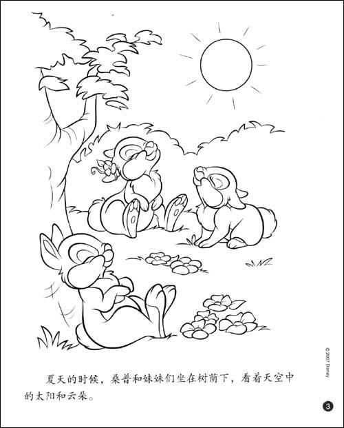 迪士尼班尼兔小宝宝涂色书 森林里的四季 美国迪士尼公司 卓越亚马