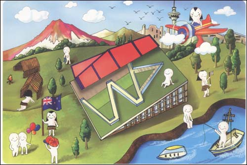 《上海2010玩转世博绘:上海世博园区手绘明信片(48张)