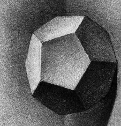 基础素描教程.石膏几何体图片