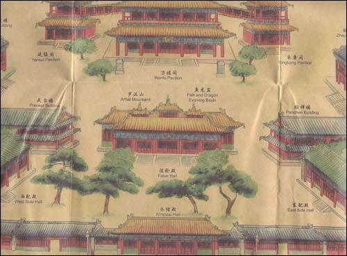 北京手绘旅游地图61雍和宫平装–2010年7月1日