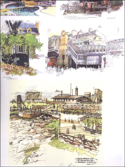环境艺术设计手绘效果图训练范本:园林景观空间表现手绘画册(第4辑)