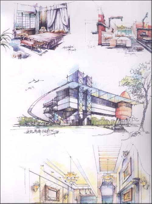 环境艺术设计手绘效果图训练范本:室内公共空间表现手绘画册(第3辑)