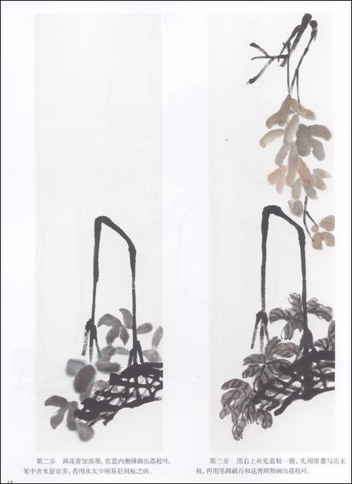 回至 学吴昌硕,齐白石画枇杷,荔枝 (平装)