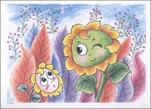儿童彩铅画,彩铅画作品