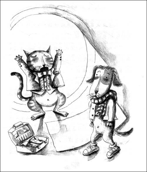 儿童绘画鼹鼠简笔画